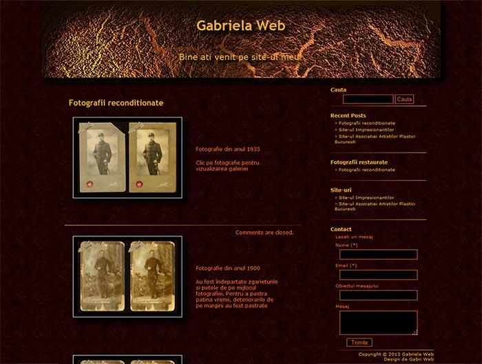 Site-ul Gabriela Web - Pagina de prezentare a fotografiilor reconditionate