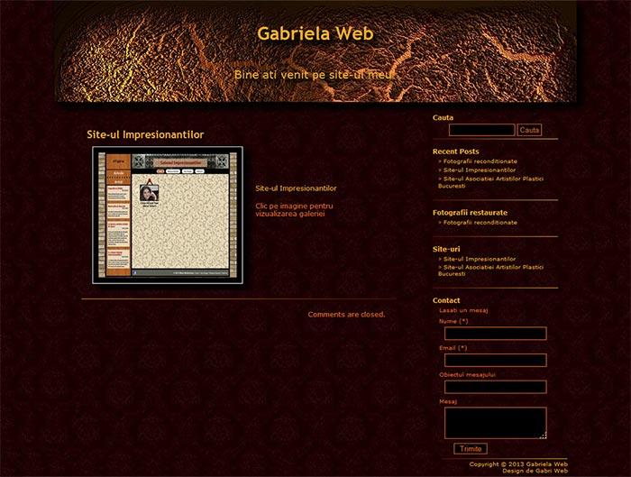 Site-ul Gabriela Web - Pagina de prezentare a unui site