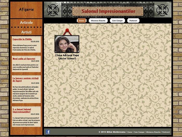 Site-ul Impresionantilor - Pagina Home