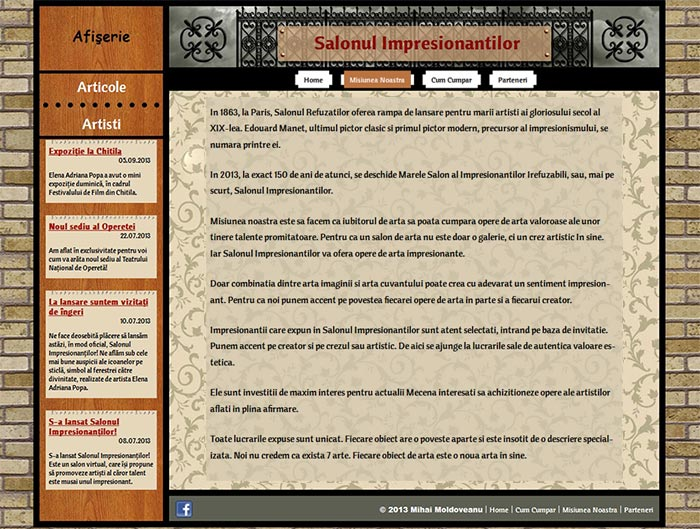 """Site-ul Impresionantilor - Pagina """"Misiunea noastra"""""""
