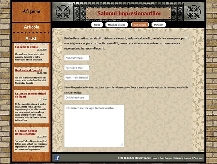 """Site-ul Impresionantilor - Pagina """"Cum cumpar"""""""