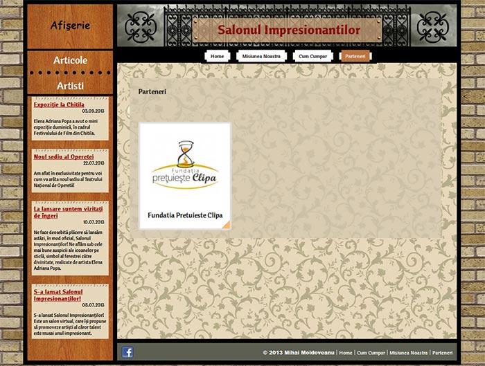 Site-ul Impresionantilor - Pagina Partenerilor