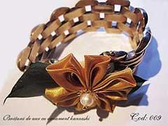 Bratara de aur cu ornament kanzashi