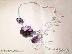 Ametist cu floare mov