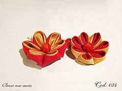 Brosa rosu-auriu