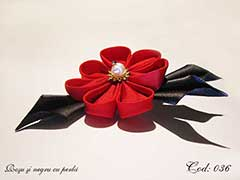 Rosu si negru cu perla