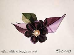 Pitica Mov cu lila si frunza verde